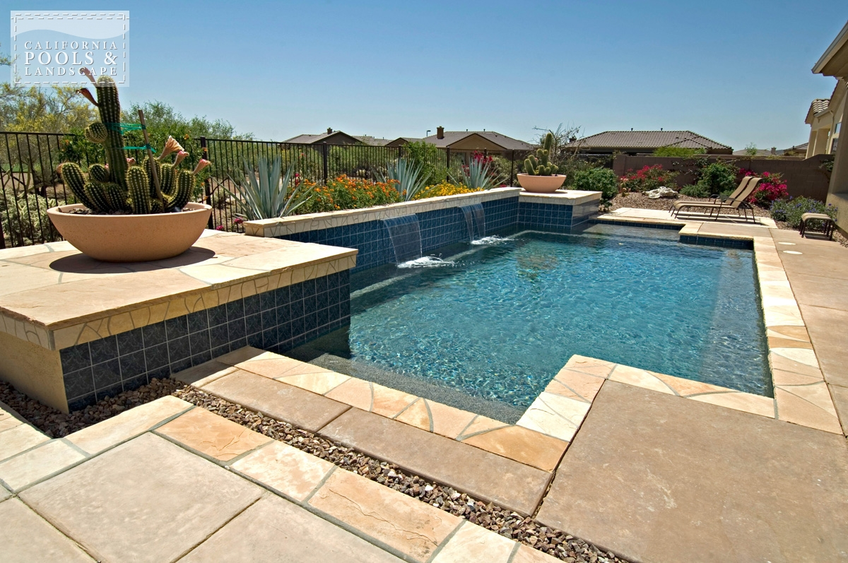 <i>Combination Decking, Decking, Flagstone, Modern, Poured Decking, Water Feature</i>
