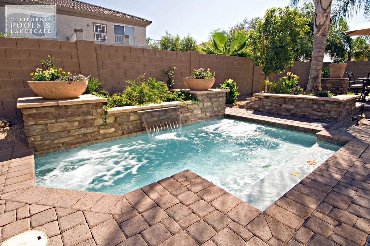 <i>Cocktail Pool, Concrete Pavers, Decking</i>