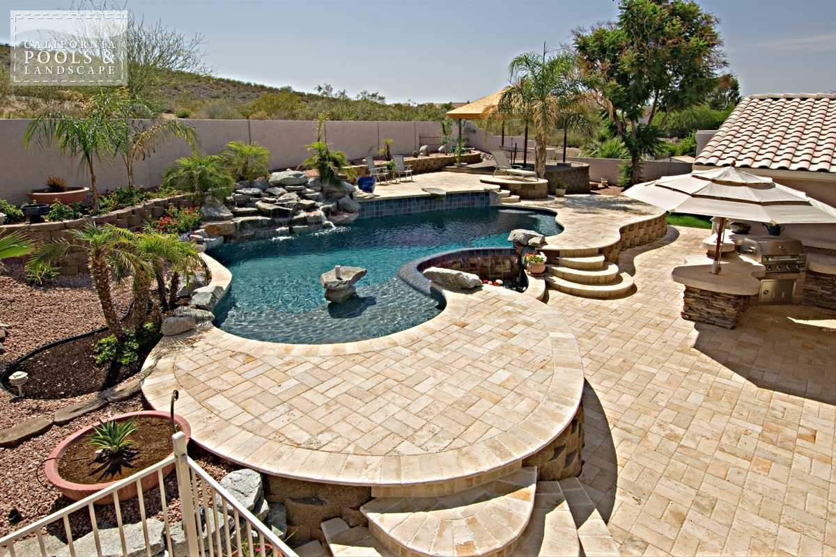 <i>Decking, Organic, Rock, Travertine, Water Feature</i>
