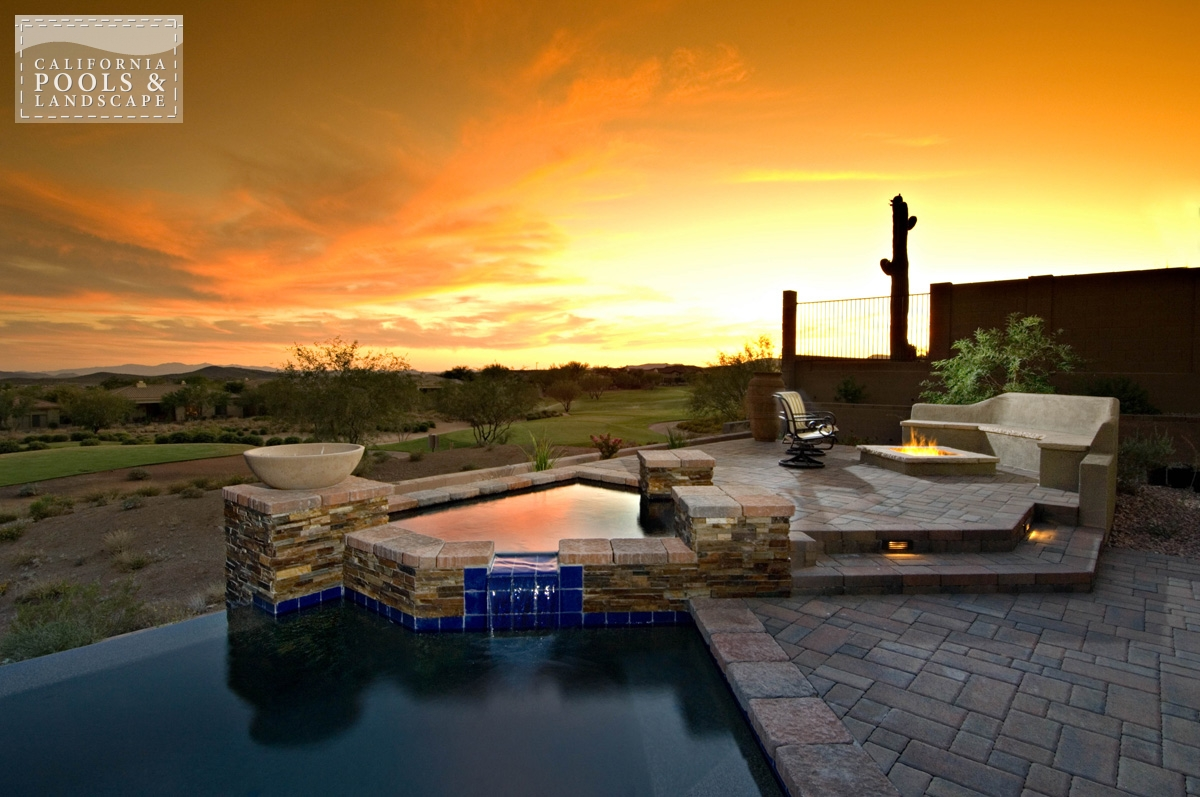 <i>Fire Features, Fire Pit, Landscape Lighting, Modern, Spa</i>
