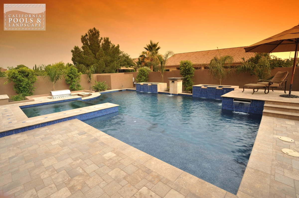 <i>Modern, Pool, Spa, Tile, Water Feature</i>