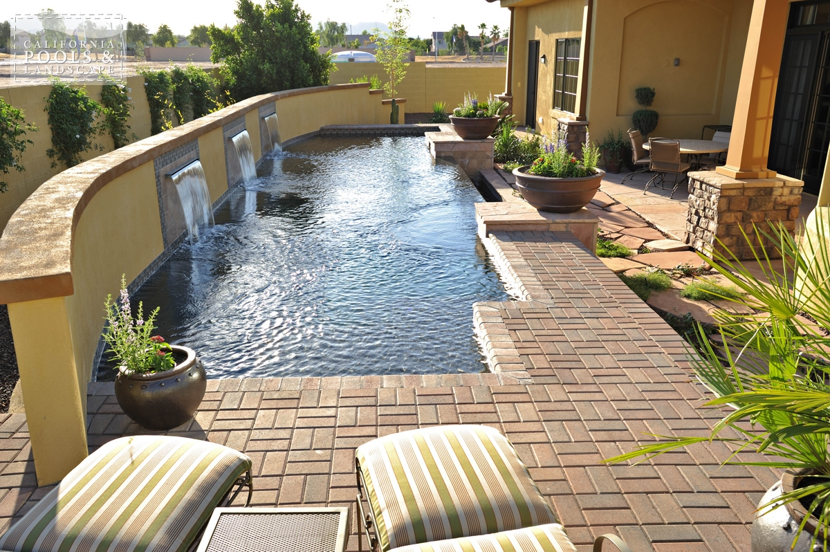 <i>Concrete Pavers, Decking, Modern, Pool, Tile, Water Feature</i>