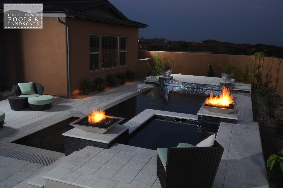 <i>Fire Features, Fire Pot, Modern, Tile, Water Feature</i>
