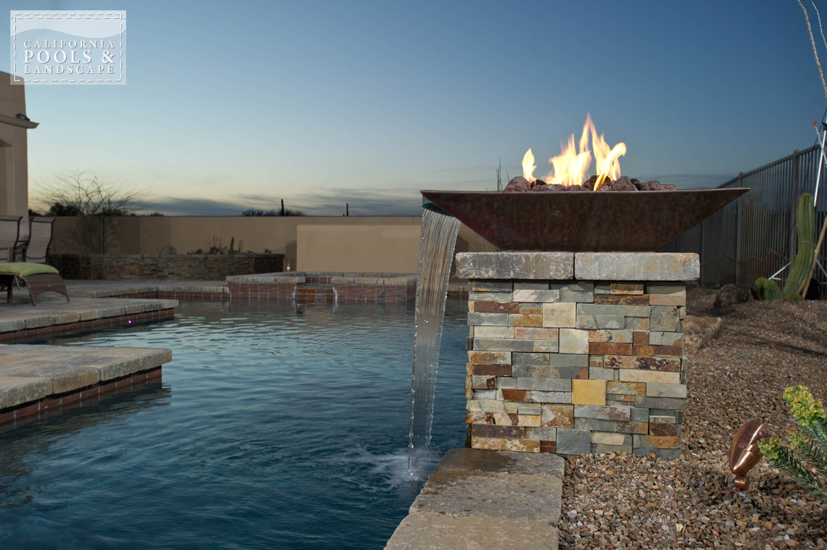 <i>Fire Features, Fire Pot, Metal, Modern, Stone, Water Feature</i>