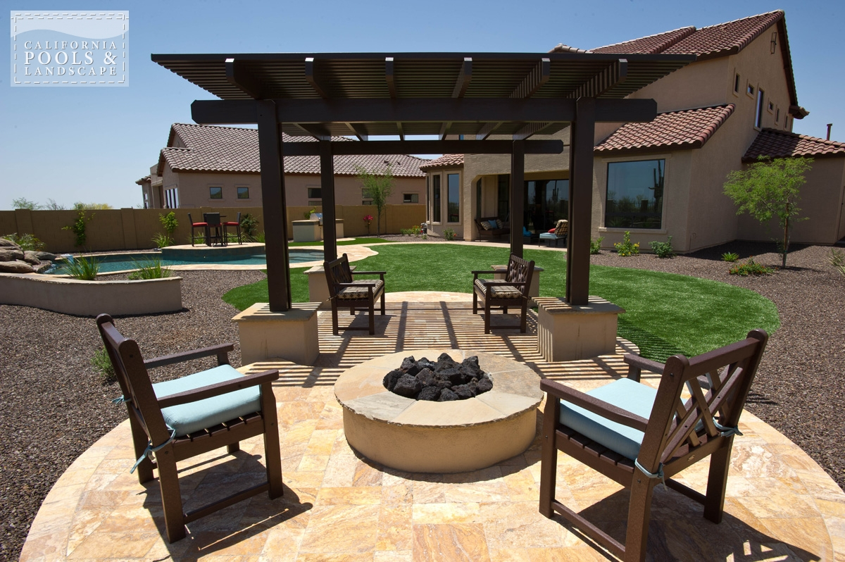 <i>Fire Features, Fire Pit, Organic, Shade Structure</i>