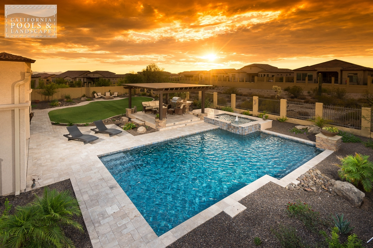 <i>AZ Lifestyle, Modern</i> - California Pool & Landscape: Gallery Of Completed Backyards