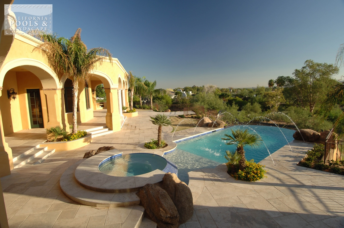 <i>Decking, Landscaping, Spa, Travertine, Tuscan</i>
