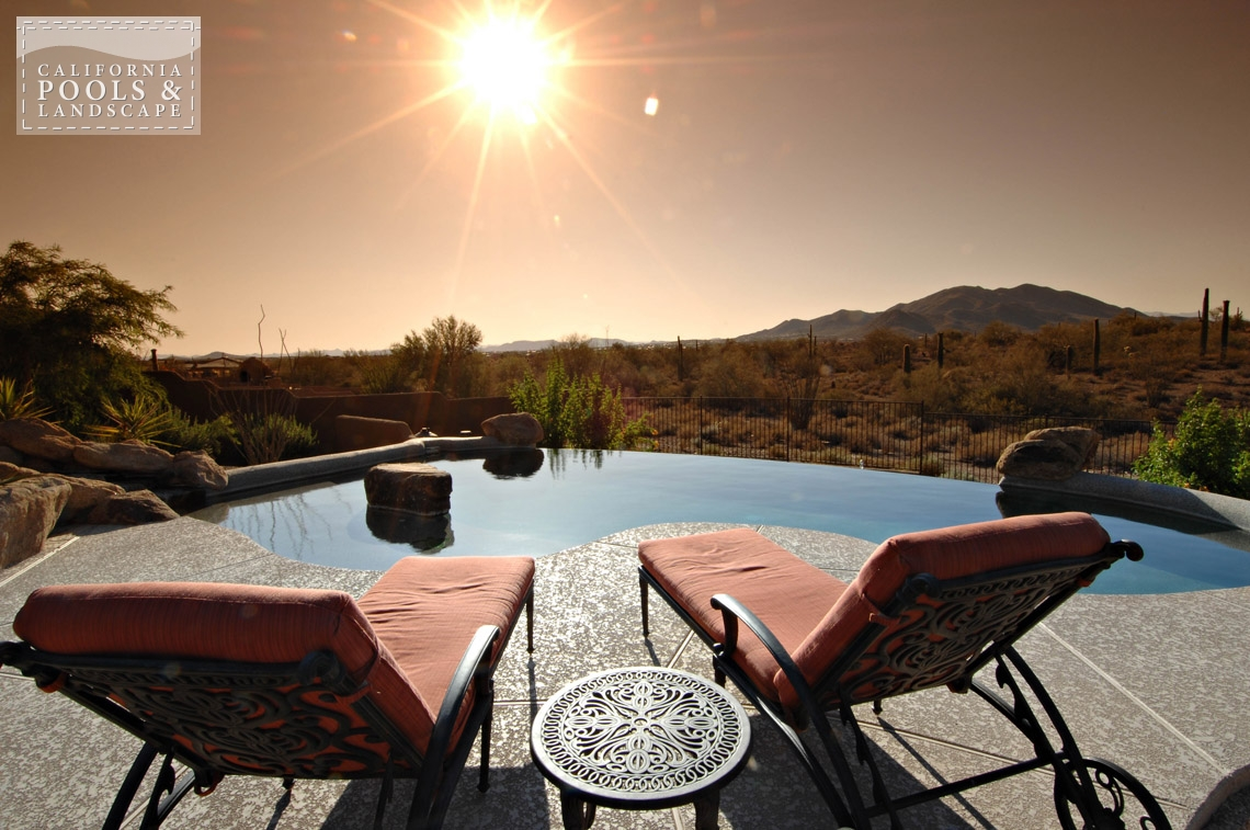 Phoenix AZ Swimming Pool Contractors & Landscape Builders - <i>AZ Lifestyle, Organic, Vanishing Edge</i>