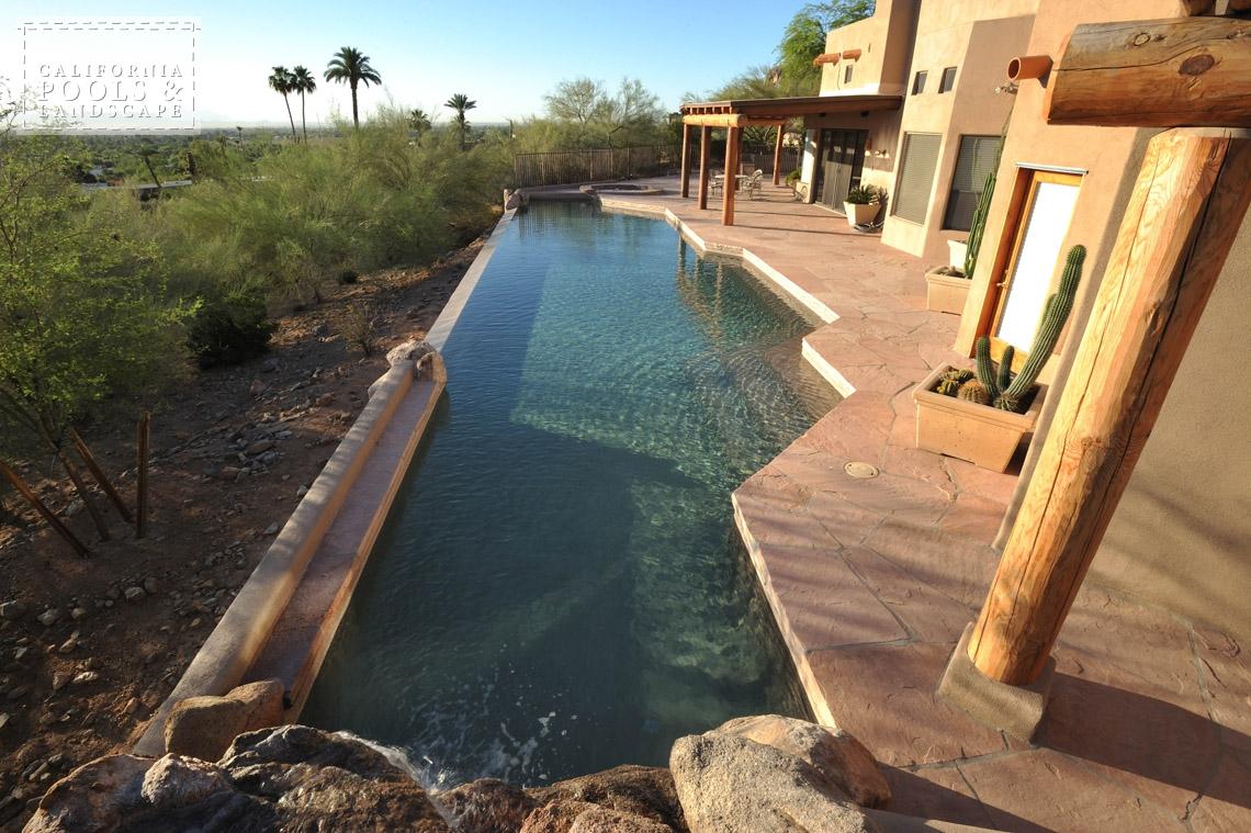 Phoenix AZ Swimming Pool Contractors & Landscape Builders - <i>AZ Lifestyle, Modern, Vanishing Edge</i>