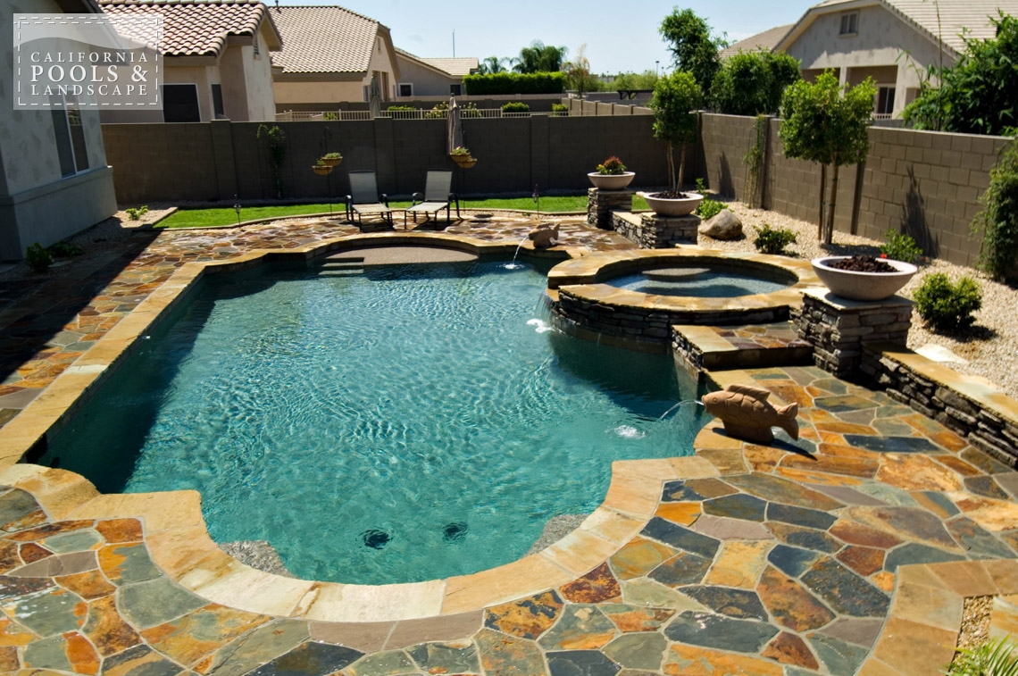 AZ Swimming Pool Builders Outdoor Landscape Contractors - <i>Pool, Tuscan</i>