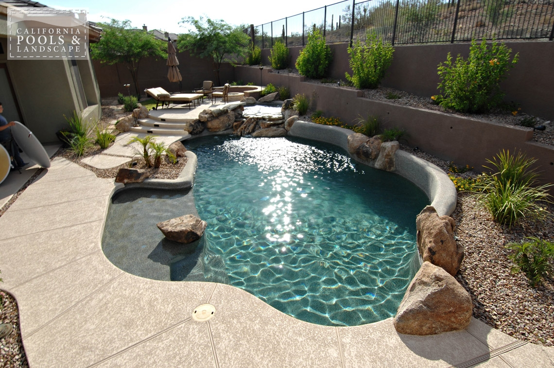 AZ Swimming Pool Builders Outdoor Landscape Contractors - <i>Organic, Pool, Poured Decking, Rock, Decking, Water Features</i>
