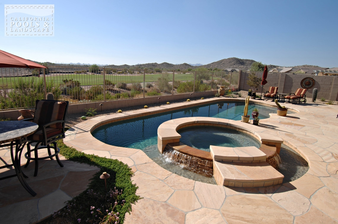 AZ Swimming Pool Builders Outdoor Landscape Contractors - <i>Flagstone, Pool, Retro, Decking, Water Features</i>