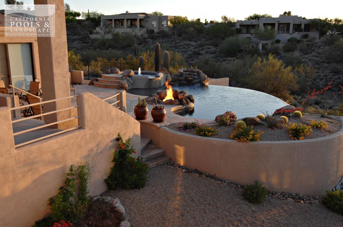 AZ Swimming Pool Builders Outdoor Landscape Contractors - <i>AZ Lifestyle, Organic, Vanishing Edge</i>