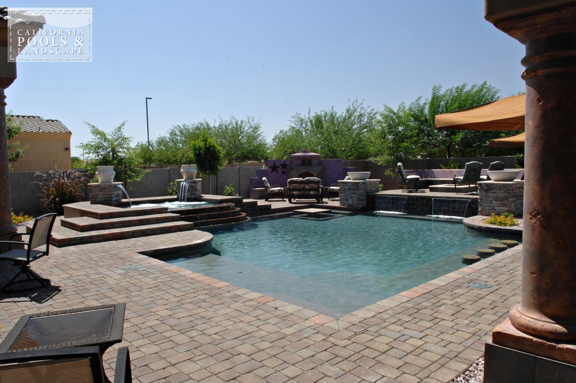 Swimming Pool by CPL Builders Phoenix Arizona - <i>Concrete Pavers, Landscaping, Modern, Pool, Decking</i>