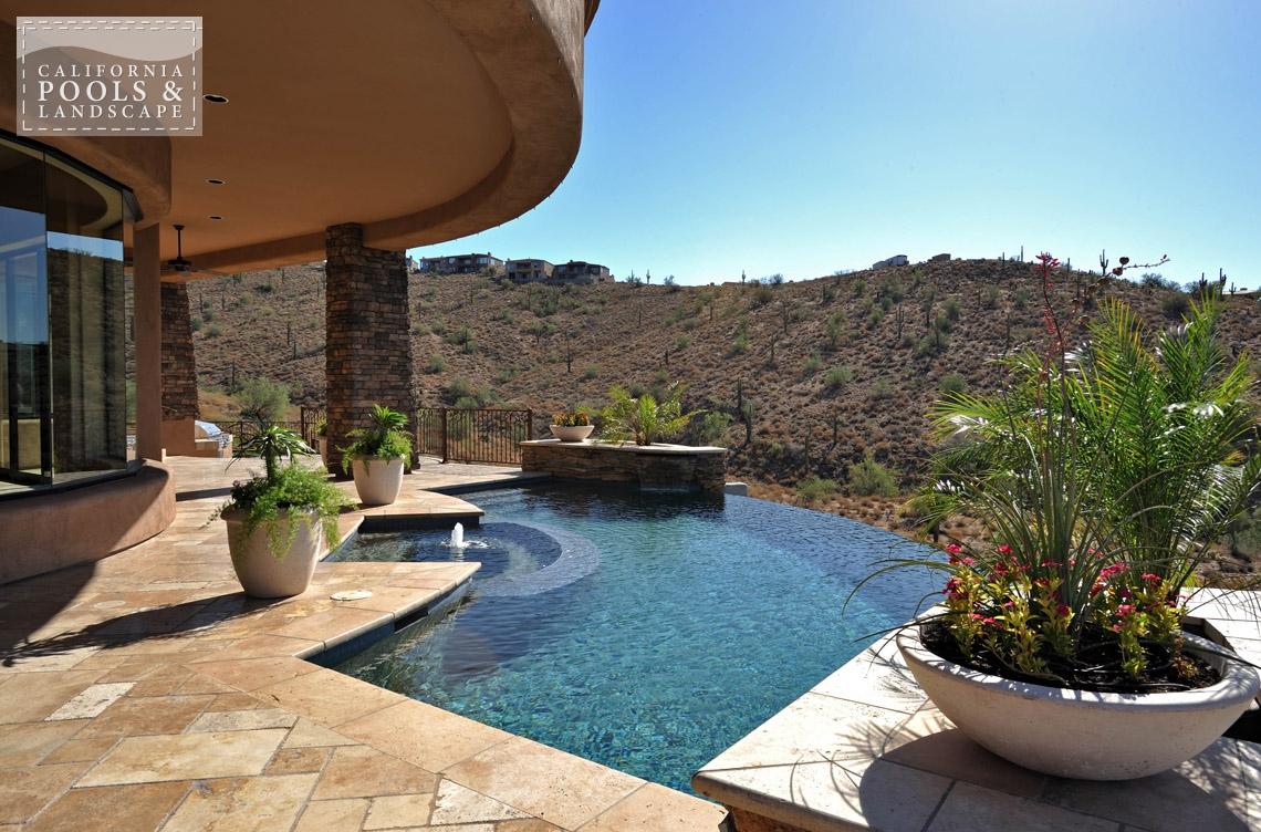 Swimming Pool by CPL Builders Phoenix Arizona - <i>AZ Lifestyle, Award Winner, Tuscan, Vanishing Edge</i>