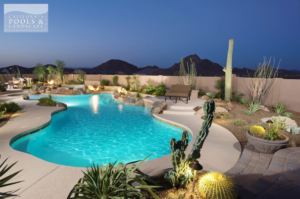 Swimming Pool by CPL Builders Phoenix Arizona - <i>Landscape Lighting, Landscaping, Organic, Pool, Rock, Special Items, Water Features</i>