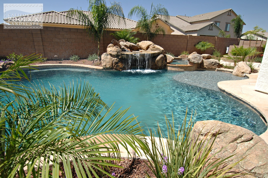 AZ Swimming Pool Contractors California Pool & Landscape - <i>Grotto, Organic, Pool, Water Features</i>