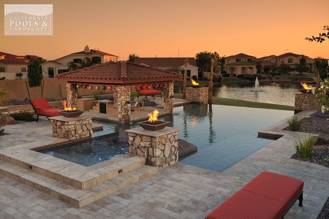 AZ Swimming Pool Contractors California Pool & Landscape - <i>AZ Lifestyle, Award Winner, Modern</i>