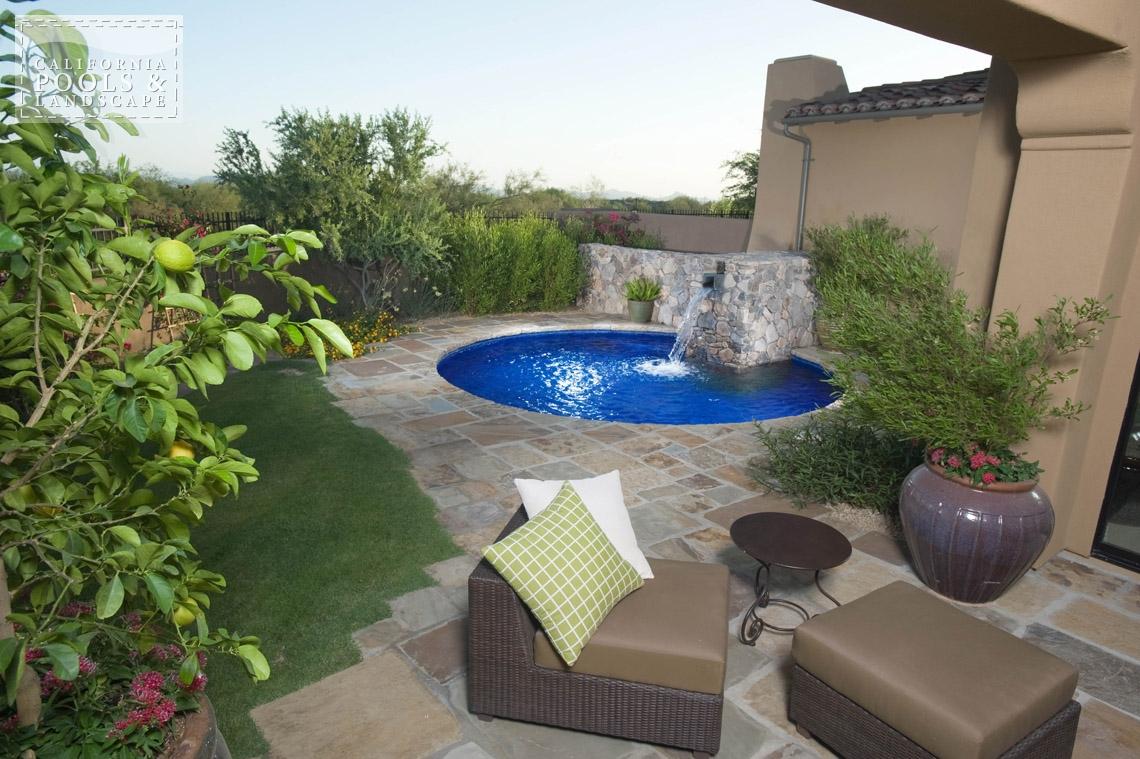 Phoenix In-ground Swimming Pool Builders - <i>AZ Lifestyle, Cocktail Pool, Modern</i>