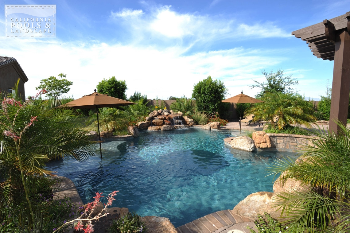 Phoenix In-ground Swimming Pool Builders - <i>Landscaping, Organic, Pool</i>