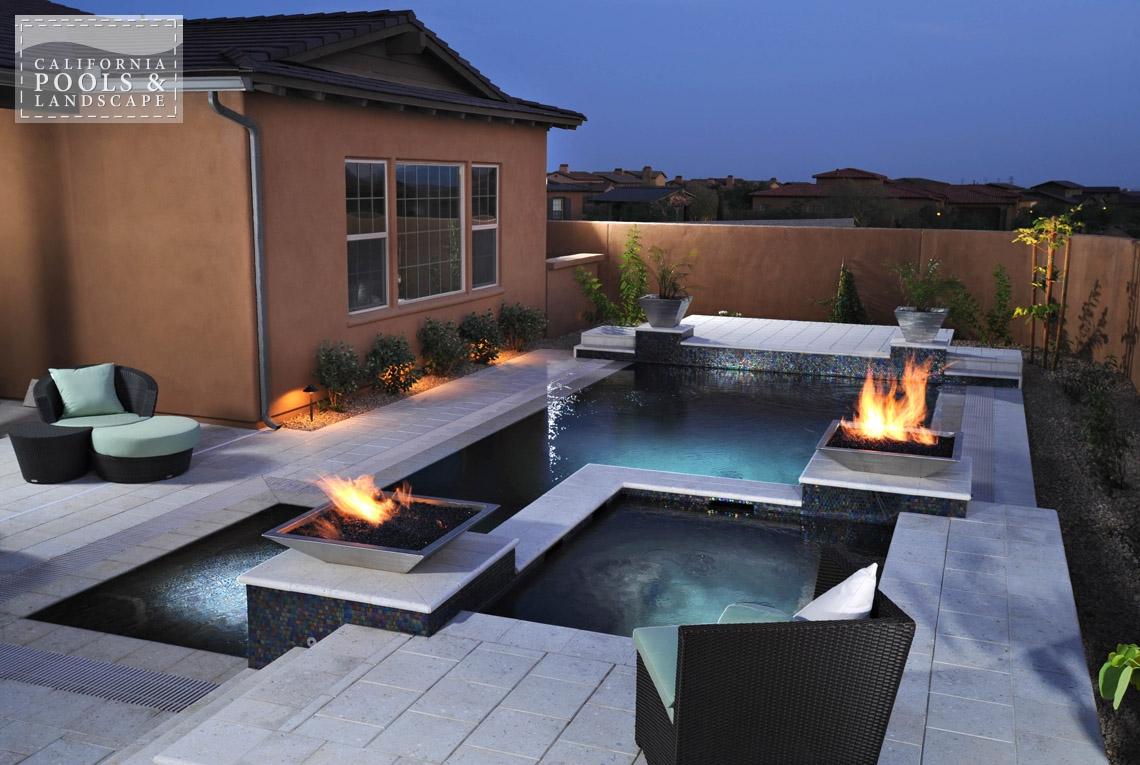 Phoenix In-ground Swimming Pool Builders - <i>AZ Lifestyle, Award Winner, Modern, Vanishing Edge, Zero Edge</i>