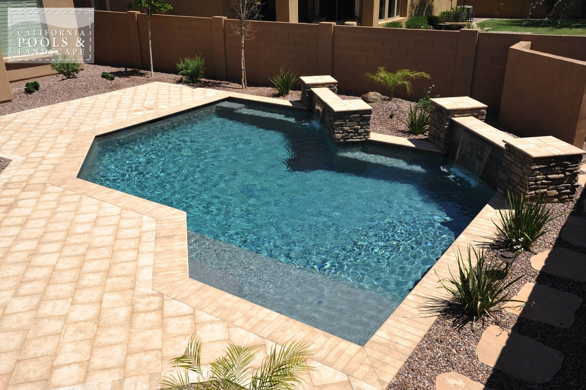 Arizona In-ground Swimming Pool Builders - <i>Artistic Pavers, Modern, Pool, Decking</i>