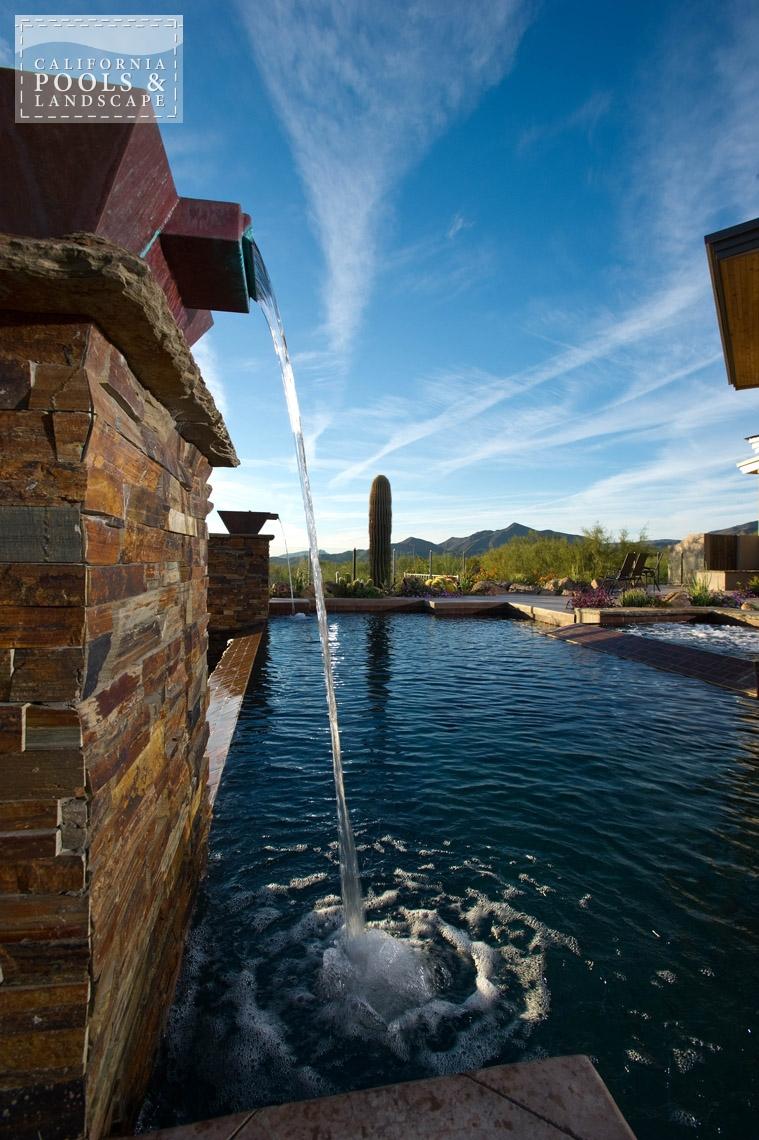 Arizona In-ground Swimming Pool Builders - <i>Metal, Modern, Remodel, Stone, Vanishing Edge, Water Features</i>