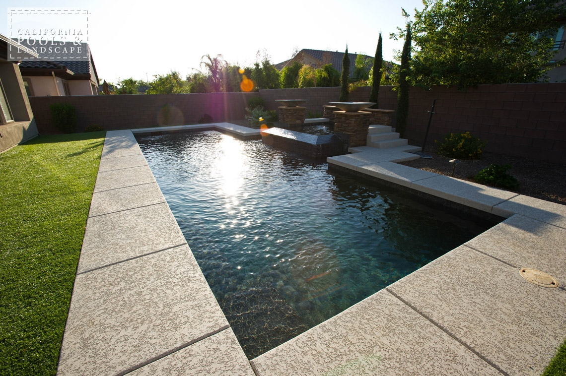 Arizona In-ground Swimming Pool Builders - <i>Modern, Pool, Poured Decking, Decking</i>