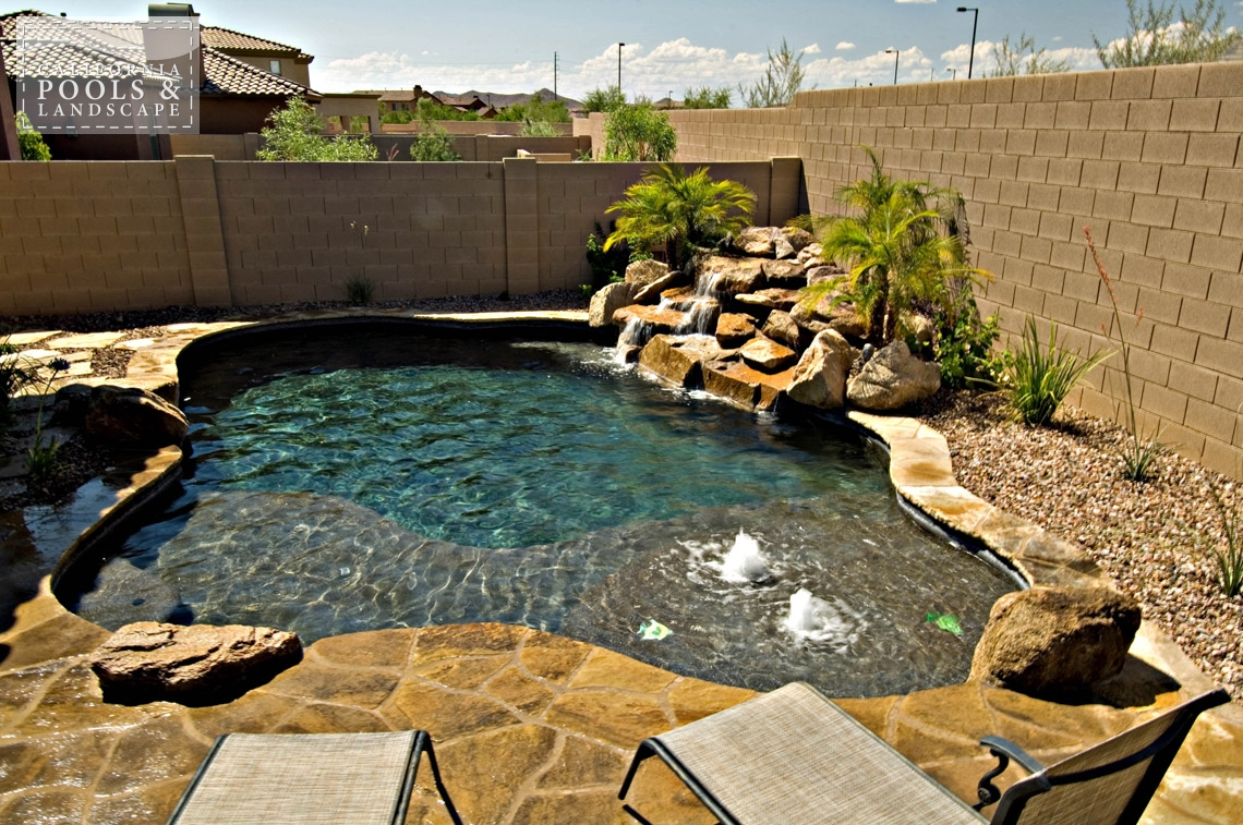 AZ Swimming Pool Builders Outdoor Landscape Contractors - <i>Cocktail Pool, Organic, Pool</i>