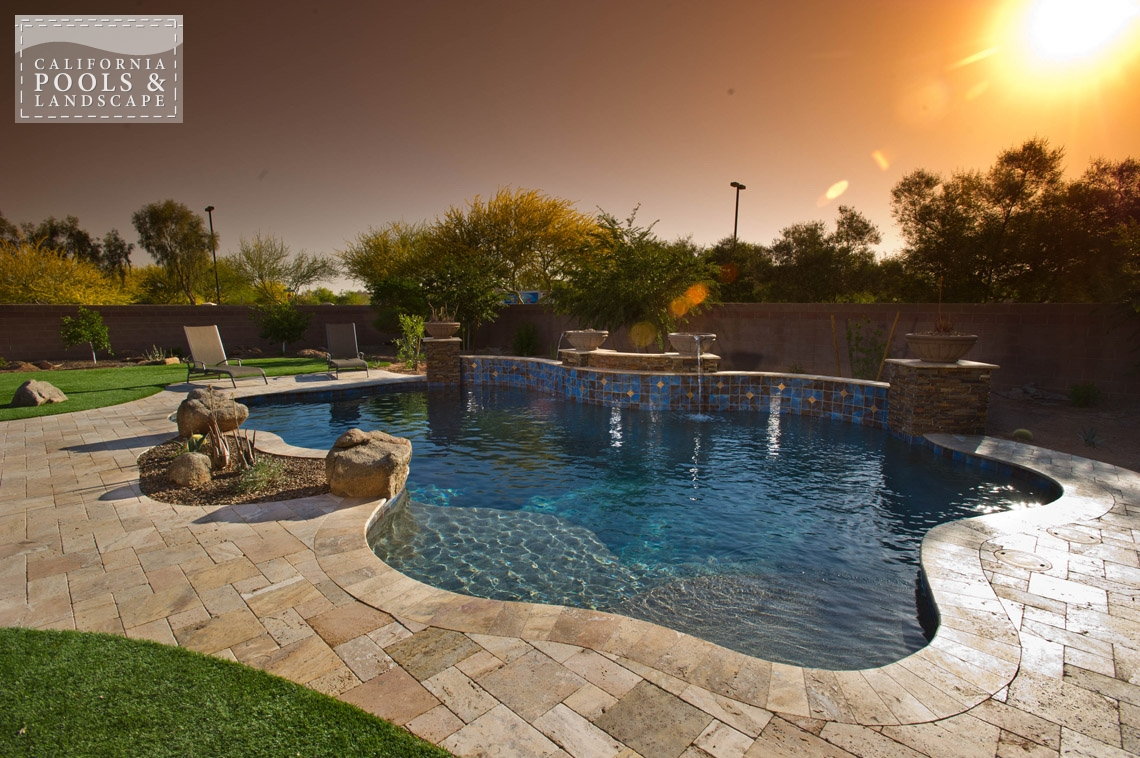 AZ Swimming Pool Builders Outdoor Landscape Contractors - <i>Organic, Pool, Travertine, Decking</i>