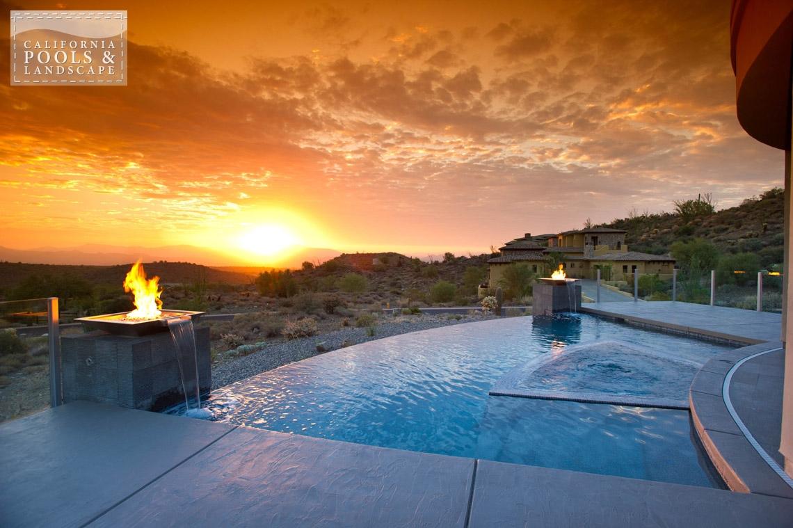 Swimming Pool by CPL Builders Phoenix Arizona - <i>AZ Lifestyle, Award Winner, Modern</i>