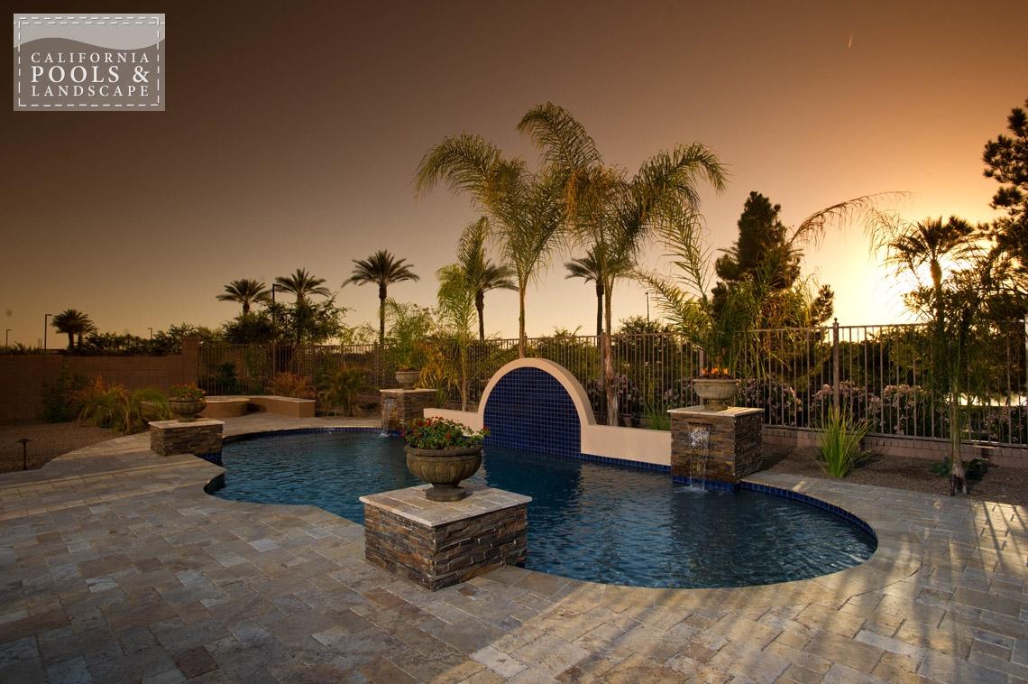 Swimming Pool by CPL Builders Phoenix Arizona - <i>AZ Lifestyle, Tuscan</i>