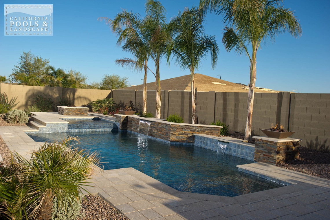 AZ Swimming Pool Contractors California Pool & Landscape - <i>Modern, Pool, Spa, Stone, Tile, Water Features</i>