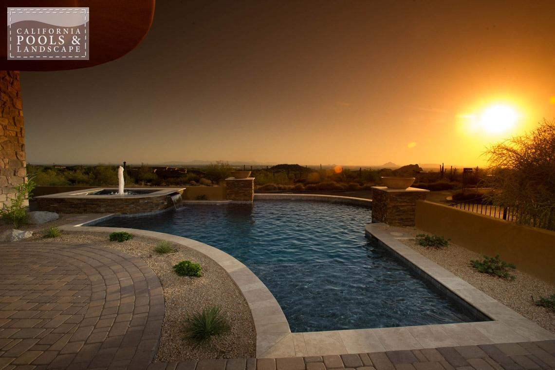 AZ Swimming Pool Contractors California Pool & Landscape - <i>AZ Lifestyle, Modern</i>