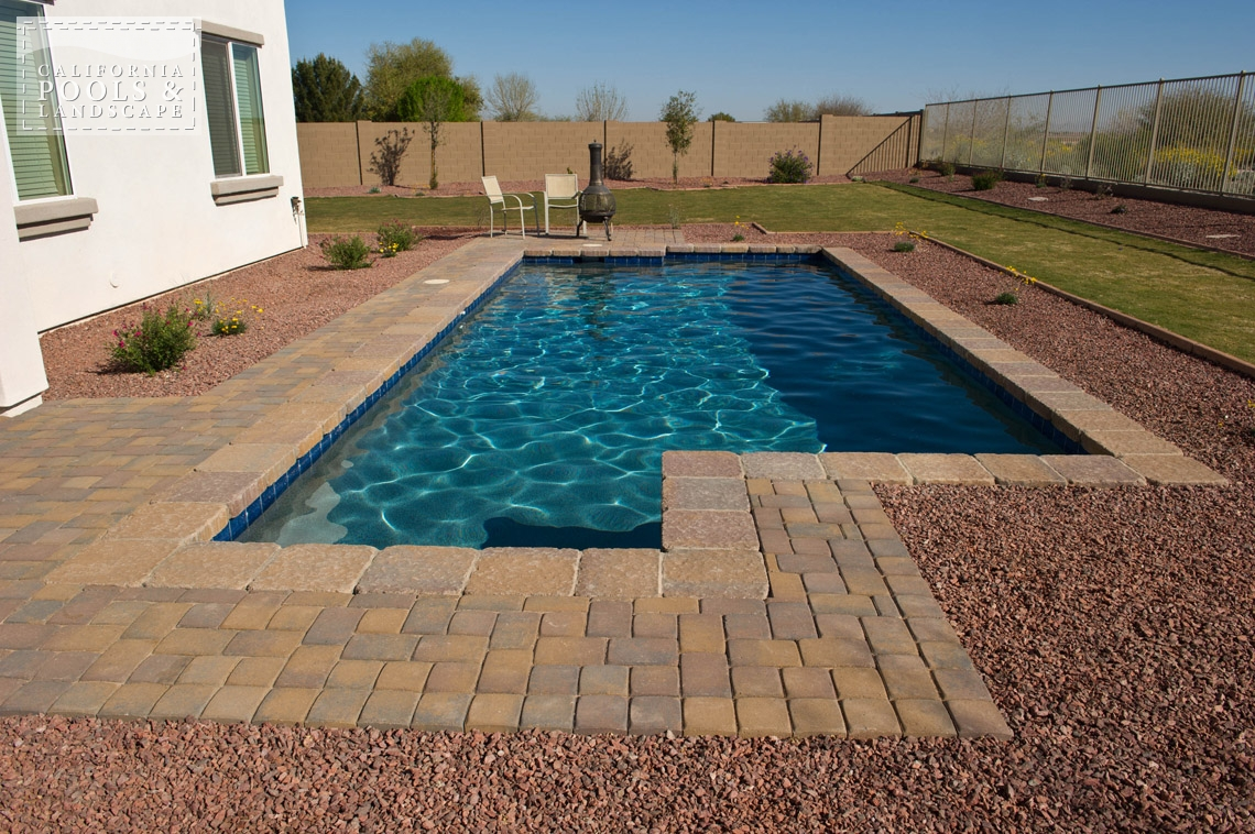 Phoenix In-ground Swimming Pool Builders - <i>Concrete Pavers, Modern, Pool, Decking</i>