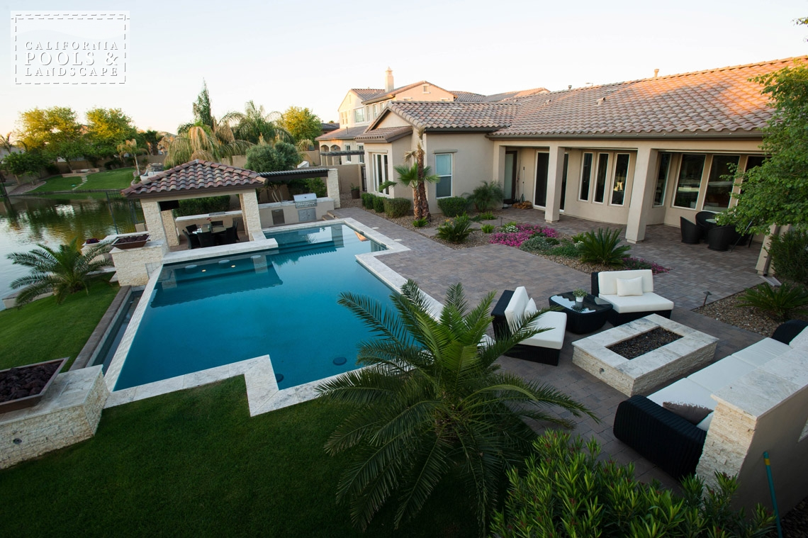 Phoenix In-ground Swimming Pool Builders - <i>AZ Lifestyle, Modern</i>