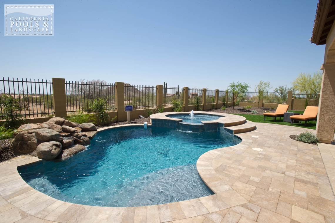 Arizona In-ground Swimming Pool Builders - <i>Cocktail Pool, Pool</i>