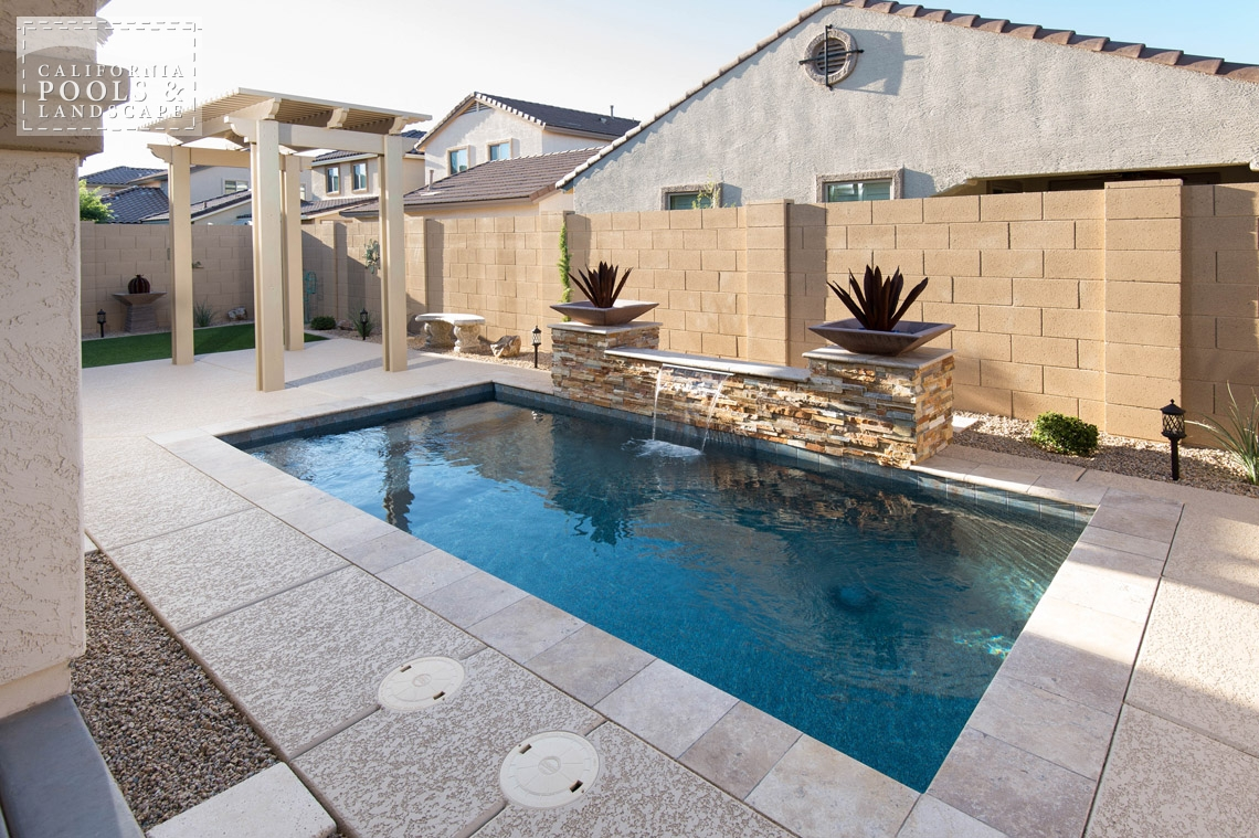 AZ Swimming Pool Builders Outdoor Landscape Contractors - <i>Cocktail Pool, Modern, Pool, Shade Structure</i>