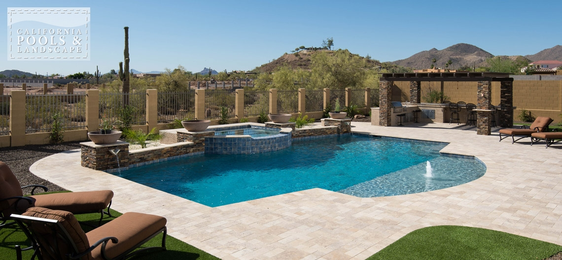 AZ Swimming Pool Builders Outdoor Landscape Contractors - <i>Pool, Travertine, Tuscan, Decking</i>