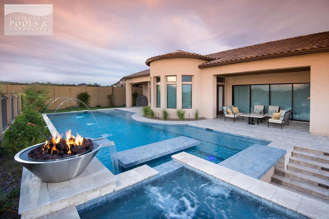 AZ Swimming Pool Builders Outdoor Landscape Contractors - <i>AZ Lifestyle, Award Winner, Modern</i>