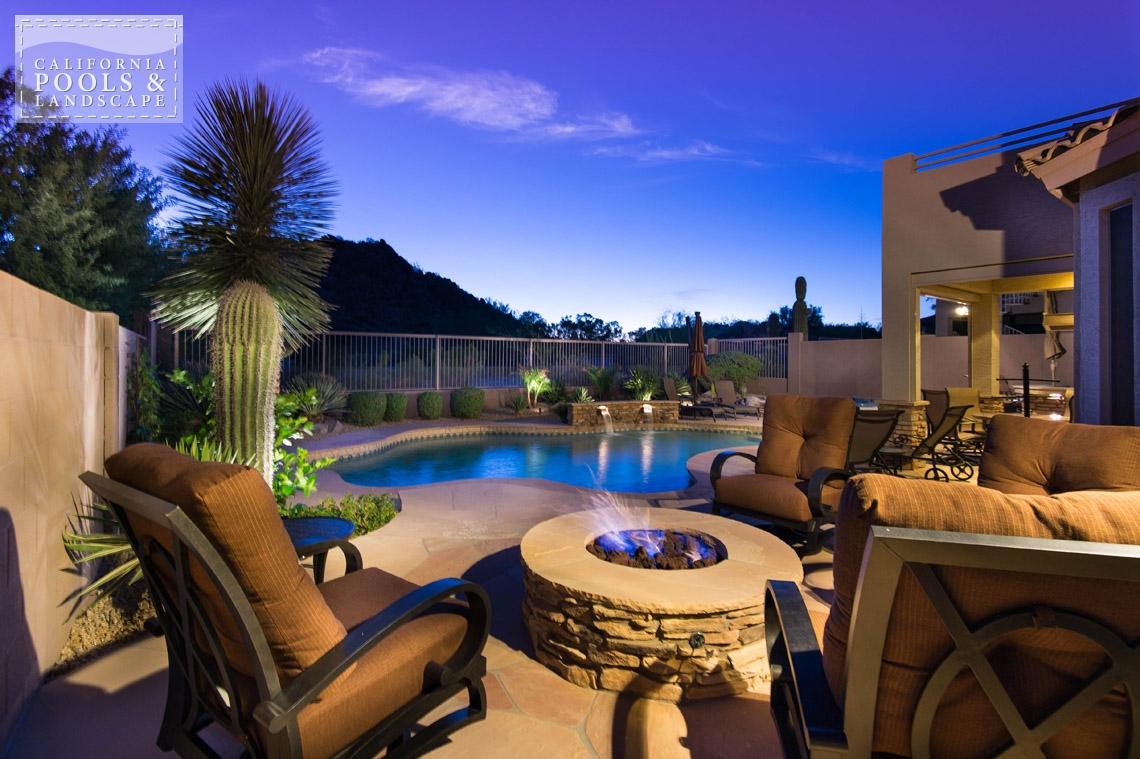 Arizona In-ground Swimming Pool Builders - <i>Landscape Lighting, Landscaping, Organic, Remodel</i>