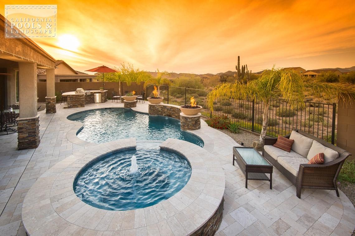 Arizona In-ground Swimming Pool Builders - <i>AZ Lifestyle, Organic</i>