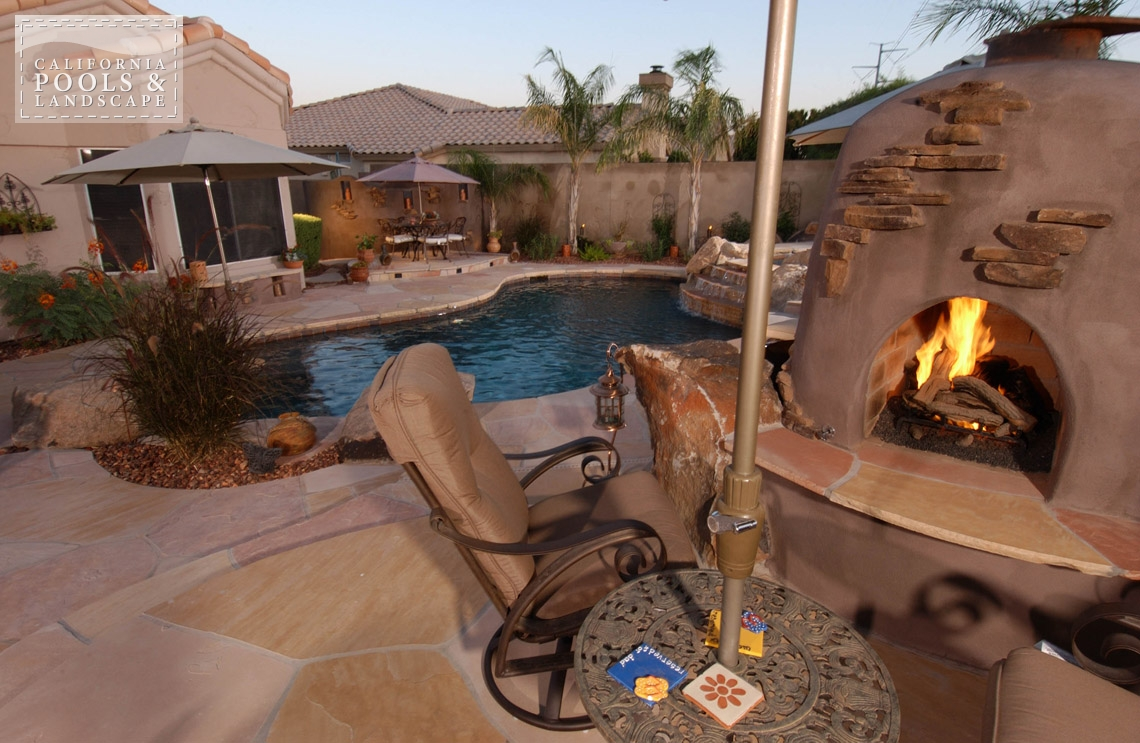 Swimming Pool by CPL Builders Phoenix Arizona - <i>Fire Features, Fire Place, Organic, Remodel</i>