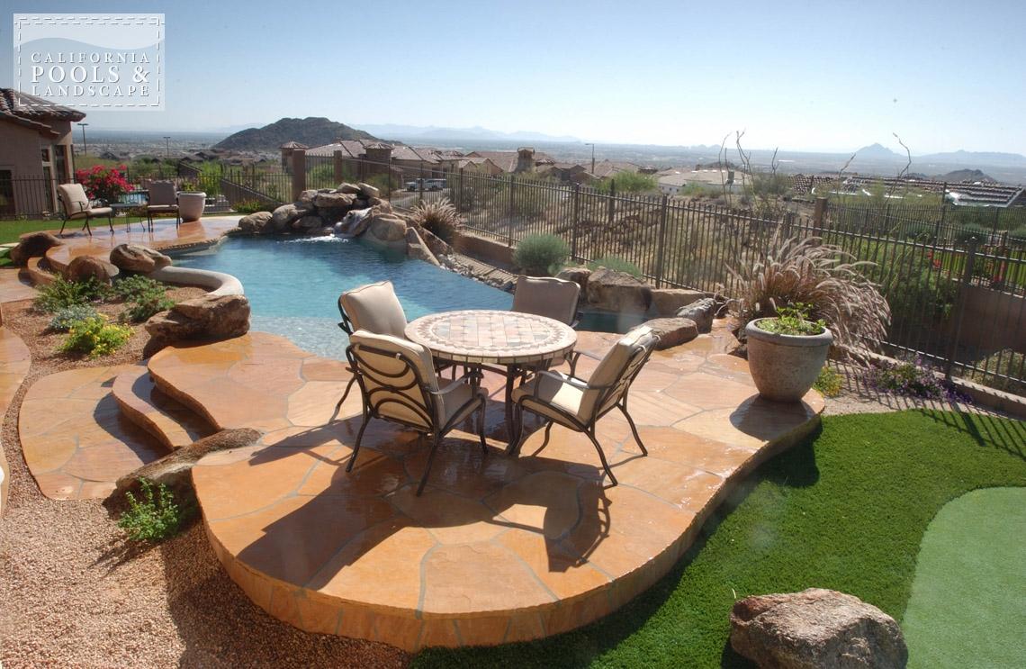 Outdoor living california pools landscape - Swimming pool contractors phoenix az ...