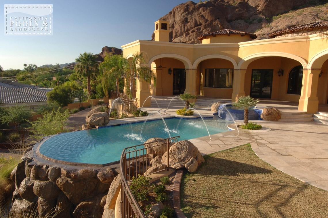 Swimming Pool by CPL Builders Phoenix Arizona - <i>AZ Lifestyle, Award Winner, Tuscan</i>
