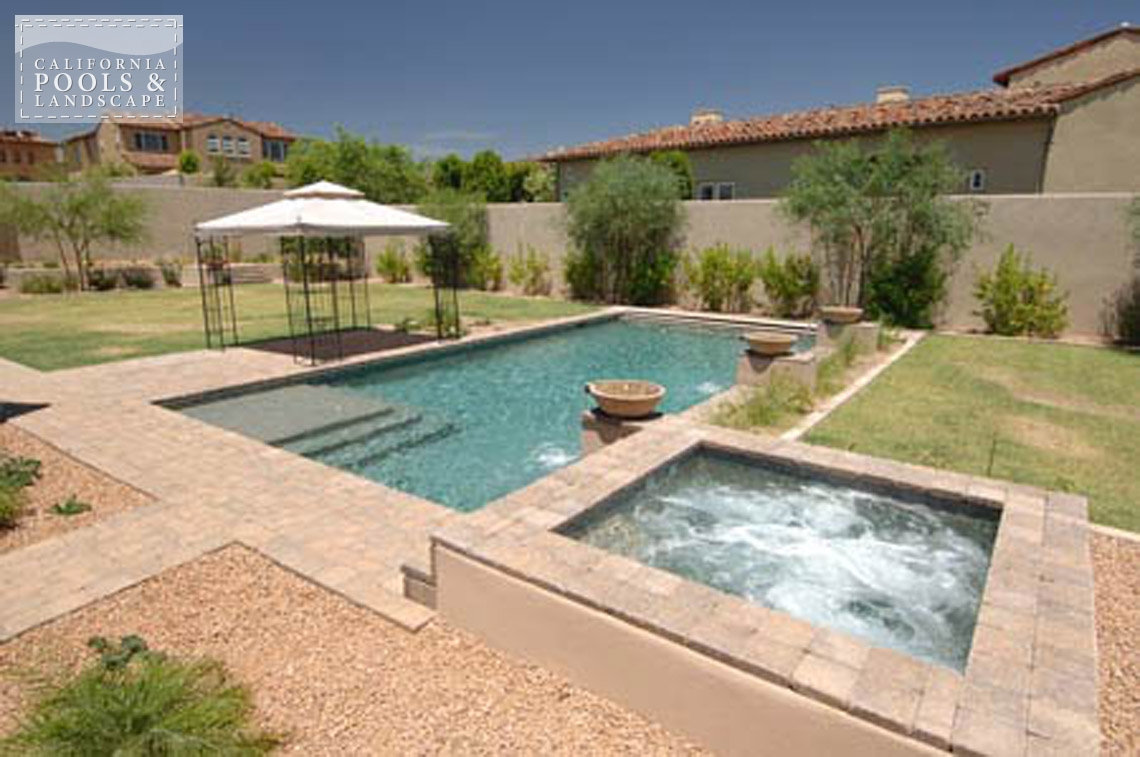 Pools california pools landscape for Modern pool landscaping