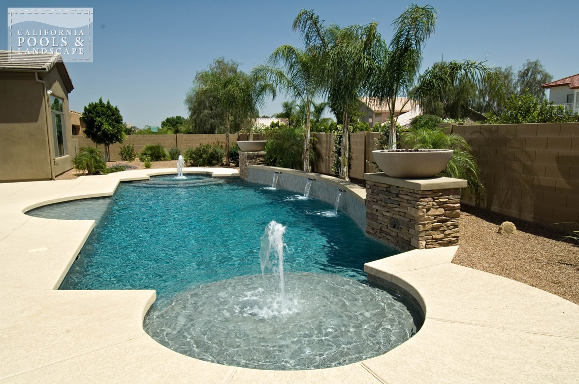 Pools california pools landscape for Garden pool in arizona