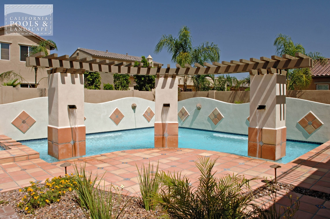 AZ Swimming Pool Contractors California Pool & Landscape - <i>Pool, Retro, Special Items, Speciality, Water Features</i>