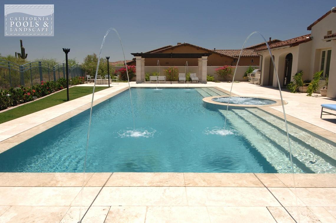 California pools landscape your premier outdoor living source for Swimming pool builders phoenix az