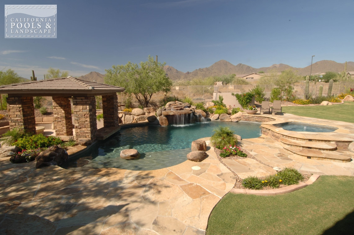 California pools landscape your premier outdoor living for Garden pool in arizona